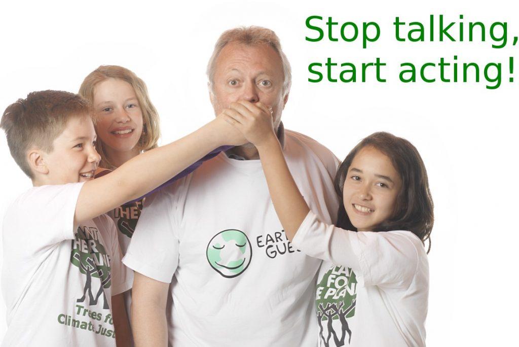 Edwin Busl mit KlimabotschafterInnen